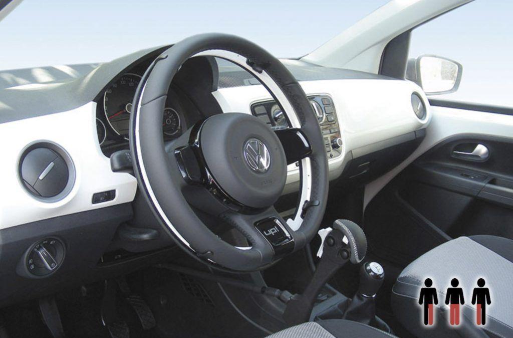 Volante con aro de aceleración - Adaptación coche adaptado