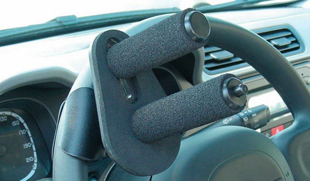 Empuñadura en el volante, con dos pomos IP2003/B   Guidosimplex