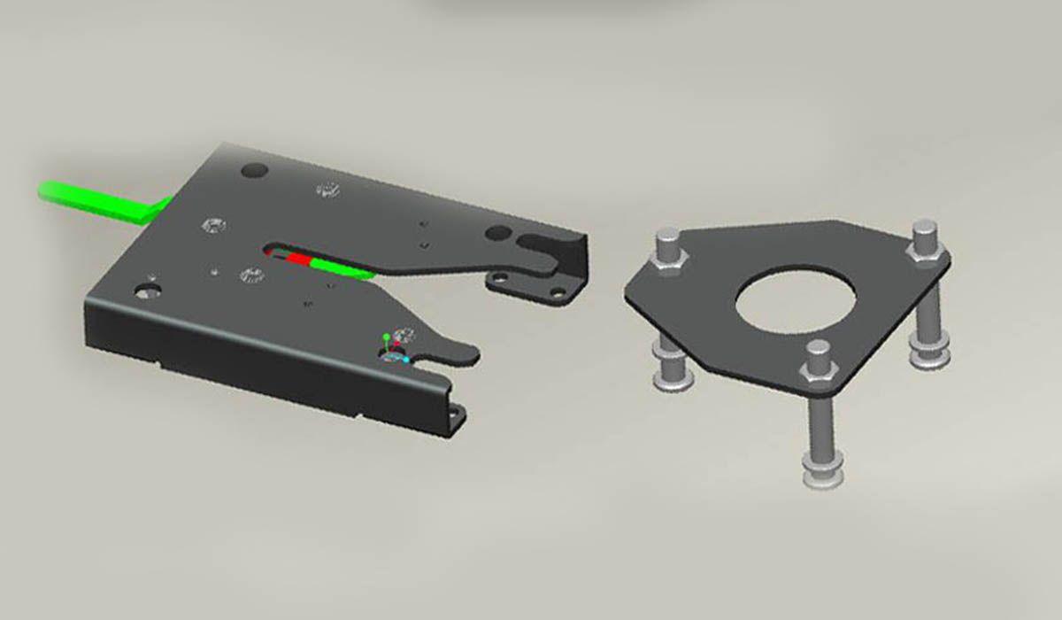 Placa de anclaje para sillas de ruedas AKE04
