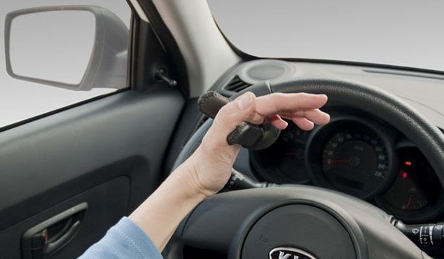 Empuñadura al volante en forma de horquilla | Kivi